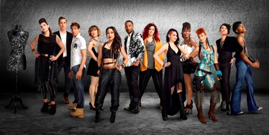 'Styled to Rock' cast.  Pictured: (l-r) Laura Petrielli-Pulice, Jordan Crowson, Adam Christoffel, Kristie Metcalf, Cecilia Aragon, Keenan Zeno, Adriana Diaz, Autumn Kietponglert, Ebony White, .Ahni Radvanyi, Andre Soriano, Dexter Simmons -- (Photo by: Matthias Clamer/Bravo).  Permissions by Emily Hunter, FerenComm