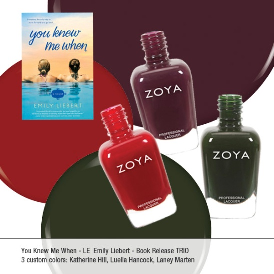 """You Knew Me When"" Zoya Nail Polish Trio. Photo Credit: Zoya.  Permission By: Emily Liebert"
