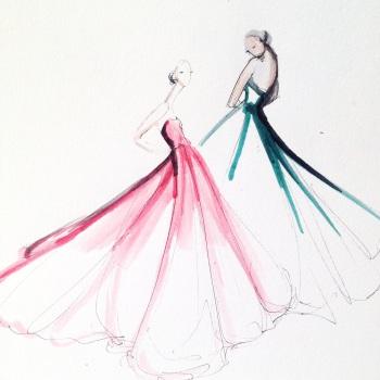 Fashion illustration by Jeanette Getrost.  Image used with permission by Jeanette Getrost.
