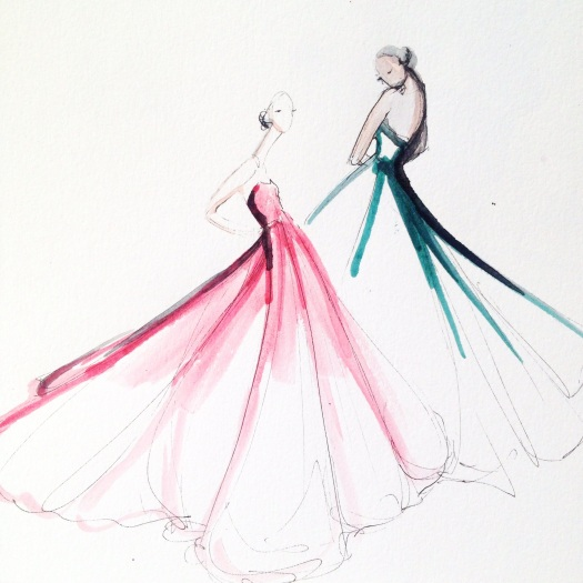 Fashion illustration by Jeanette Getrost.  Image used with permission by Jeanette Getrost.