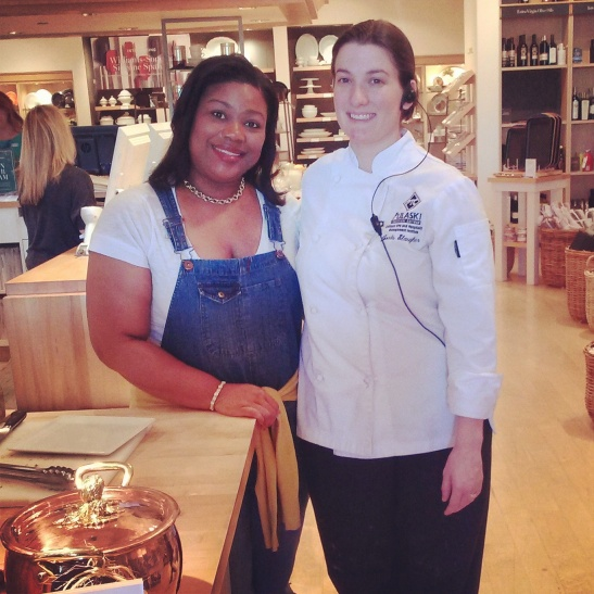 Kimberly Lacy with International Flair Designs poses with her colleague at Williams-Sonoma.