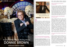 Interview by Meredith Corning with Celebrity Wedding Planner, Donnie Brown.